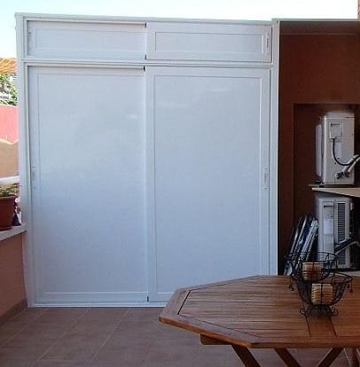 Alumam carpinter a de aluminio sabadell armarios - Armario pvc exterior ...