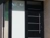 Puerta entrada negra exterior